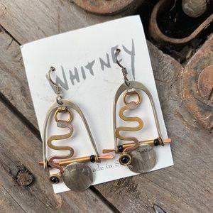🌻Mixed Metals Earrings by John & Linda Whitney.
